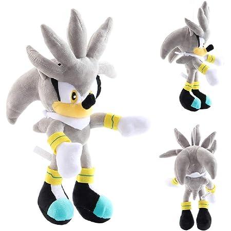 28 cm Sonic Hedgehog Film e TV Gioco Bambola in peluche, Sonic The Hedgehog peluche Amy Rose Un regalo per il tuo bambino (Grigio-30 cm)