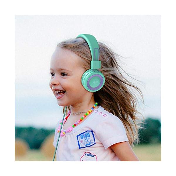 Elecder i37 Kids Headphones Children Girls Boys Teens Foldable Adjustable On Ear Headphones 3.5mm Jack Compatible…