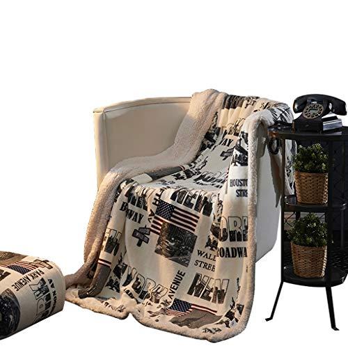 Manta gruesa de franela cálida doble siesta para invierno, doble espesante, piel suave, lavable rollsnownow (tamaño: 150 x 200 cm)