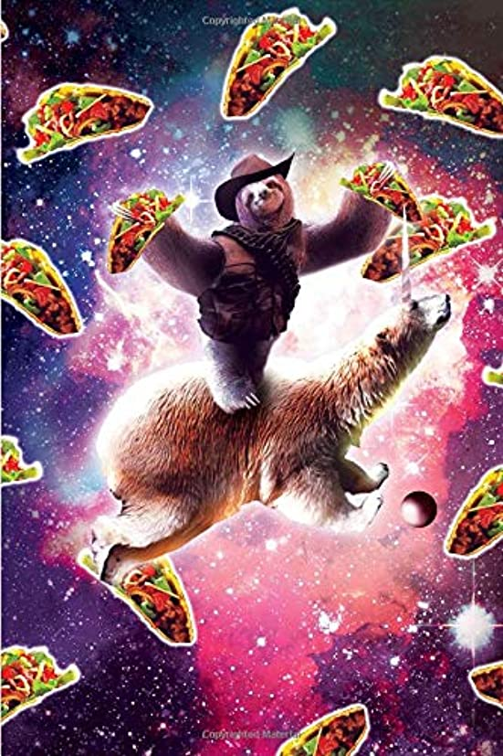 太い優先ブローCowboy Space Sloth On Polar Bear Unicorn - Taco Daily Weekly Planner