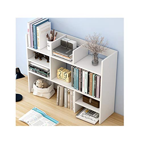 XIAOQIU Estantería para Libros Madera Desktop Bookshelf Desk Organizer Office Storage Rack Pantalla Estante Estante Libre Pantalla Verdadero Natural Stand Estantería Estantería Estante de Escritorio