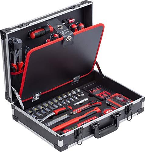 Meister 8971490 - Maletín de herramientas (109 piezas, aluminio resistente)