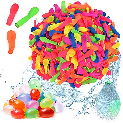 EKKONG Wasserbomben, 1000pcs Wasserballons Wasser Luftballons Wassergefüllter Ball Wasserspass Wasserspielzeug für Kinder Erwachsene Sommerfest Strand Party Pool Hochzeit Geburtstag Garten