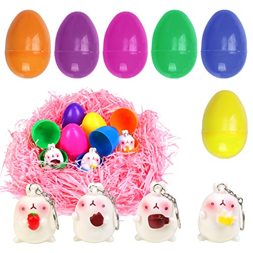 BIGKASI Huevo para Fiestas de Pascua 26PCS Pascua Sorpresa, Rellenos de Conejos de Color Aleatorio para Fiesta de Pascua Búsqueda de Huevos Regalos y Recuerdos de Fiesta a Niños (Huevos Pascua)