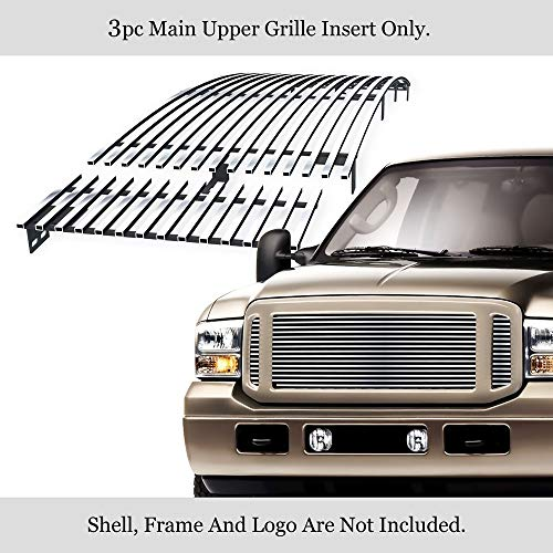 APS Compatible with 1999-2004 Ford F250 F350 F450 F550 Super Duty 2000-2004 Excursion Billet Grille Grill F85086A