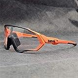 Original KAPVOE TR90 Hombres Mujeres Gafas de sol deportivas Fotocromáticas Polarizadas Nuevas gafas ciclismo correr Ciclismo al Adecuado para acampar todo tipo de formas de cara 15 colores (16)