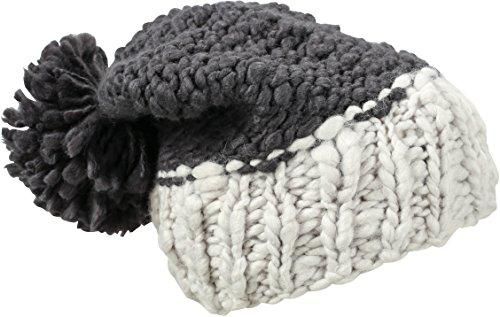 Myrtle Beach Gorro de Punto Grueso Pompon Negro Coal-Black/Glacier-Grey Talla:Talla única