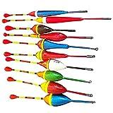 Flotadores de Pesca,Flotadores de Pesca Coloridos,Utilizado para La Pesca de La Anguila Trucha,Hay Muchos Modelos para Satisfacer Sus Necesidades (10Pcs)