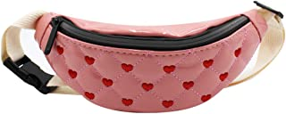 Kids Toddlers Cute Leather Fanny Pack Small Purse Waist Pack Belt Bum Bag for Hiking Travel Sport