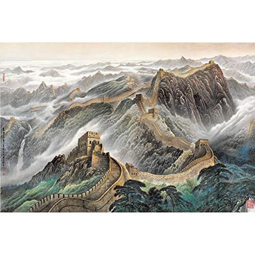 FFYUGO Rompecabezas de Madera de la Gran Muralla de China, 500, 1000, 1500, 2000, 3000, 5000, 5700 Piezas, un Juego de Puzzle para Adultos y niños,2000