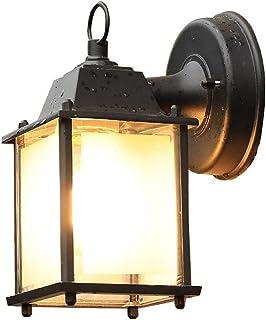 European wall light مصباح الجدار Hard-Wired في الهواء الطلق ضوء الجدار صغير (العتيقة، خمر) الحديثة IP44. أسود الرجعية جدار...