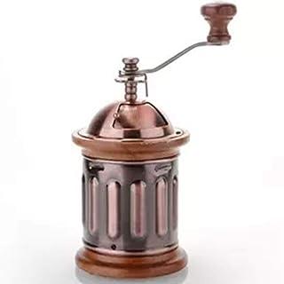 手動コーヒーグラインダー、調整可能なセラミックコニカルバリを備えたヨーロッパの銅製コーヒーグラインダー、ホームオフィスや旅行用エアロプレスに最適
