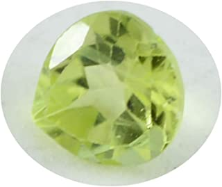 Joyas Plata 1PC Natural Green Peridot Faceted 7x7 mm Heart Shape cute Quality Loose Gem JP- STPERFCHE-7x7-us