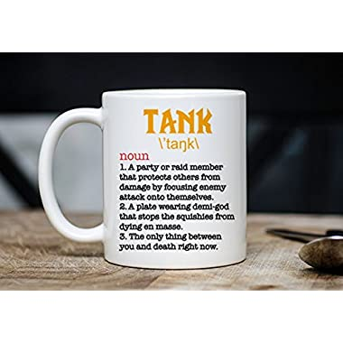 Tank Healer DPS Mug - WoW Coffee Mug - WoW Mugs - Roleplay Mugs - Gift For WoW Players - Gift For Gamers - 11oz Novelty Christmas Gift