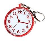 GYwink Krankenschwester Zum Aufhängen Armbanduhr Taschenuhr Legierung Taschenuhr Schlüsselanhänger (Rot)