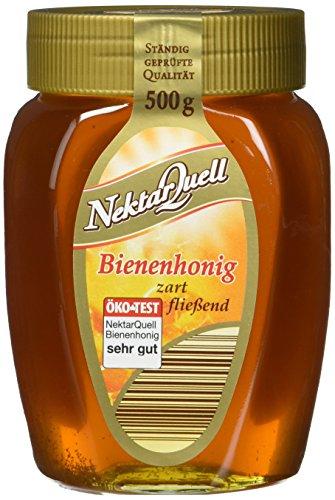 NektarQuell Bienenhonig goldklar zart fließend, 12er Pack (12 x 500 g)