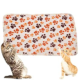Shuda Animal Pattern Pet Blanket Warm Washable Soft Fabric Bed Blankets for Protection Puppy Cat(104 X 76cm)