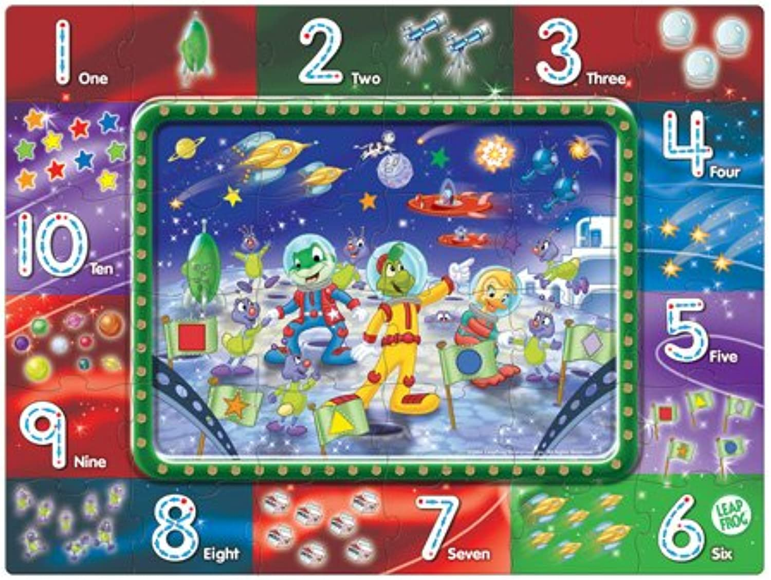 LeapFrog  Leap to the Moon Math Mission WriteOn Floor Puzzle