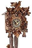 Original Schwarzwälder Kuckucksuhr aus Echtholz, mechanisches 1-Tag Laufwerk und VDS Zertifikat - Angebot von Uhren-Park Eble - Eble -Eichhörnchen 23cm- 20-25-12-10