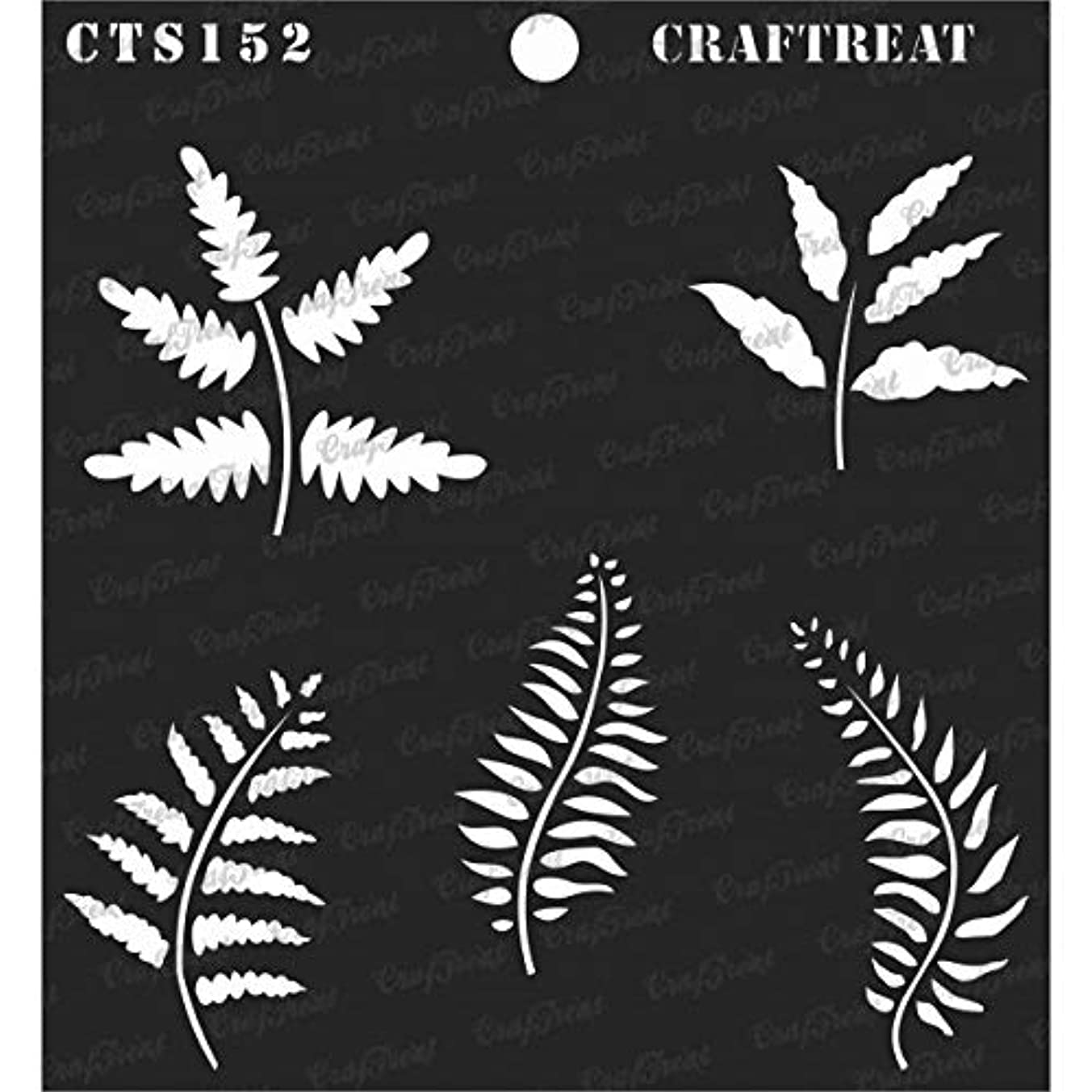 CrafTreat Stencil - Leaves2   Reusable Painting Template for Journal, Notebook, Home Decor, Crafting, DIY Albums, Scrapbook and Printing on Paper, Floor, Wall, Tile, Fabric, Wood 6