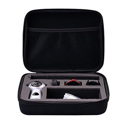 Holaca treppiedi con struttura flessibile utilizzabile come bastone per i selfie, per Samsung Gear 360, Gear 360 2017 Edition, 360 fly a 360°, Ricoh Theta S, SC, M15, Theta V, Nikon Keymission 170