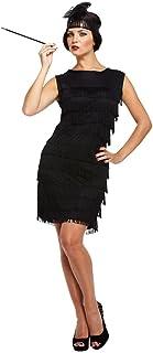 5a4e336663fb9 Fancy Me - Déguisement Costume Femme Robe Flapper Charleston à Franges  Années 1920 Noir (STD