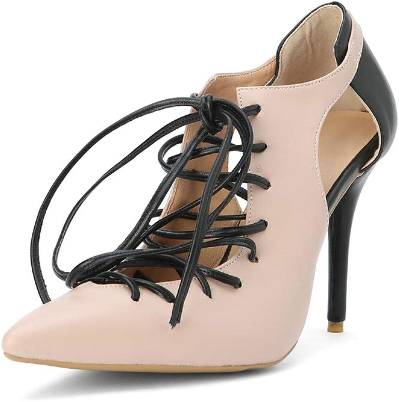 Ladies Elegant Party Heeled Sandal Women Lace-up Sandal Fashion Nude High Heel Point Toe shoes