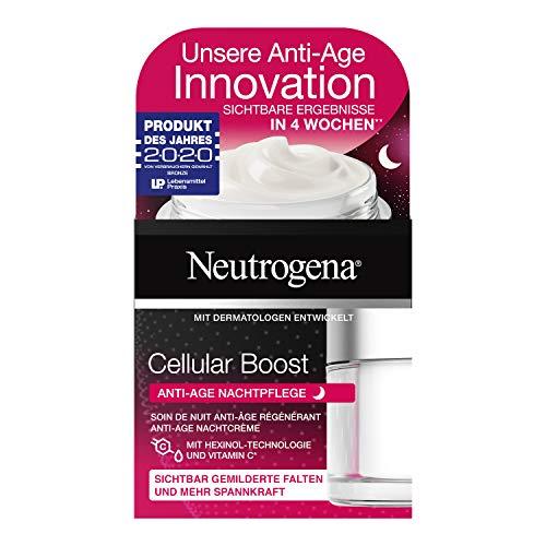 Neutrogena Cellular Boost Anti-Age Nachtpflege – Nachtpflege mit Hexinol & Vitamin C – 1 x 50ml