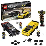 LEGO® Speed Champions Dodge Challenger SRT Demon 2018 et Dodge Charger R/T 1970 Jeu de construction 7 Ans et Plus, 478 Pièces 75893