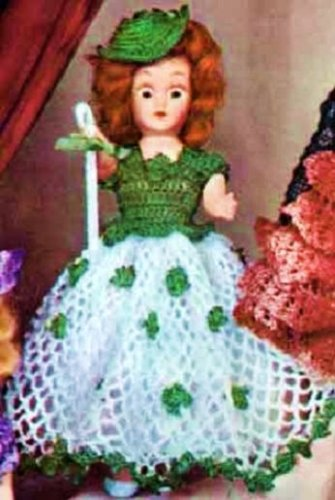 Vintage Crochet PATTERN Clown Doll Toy Crocheted Rounds | 500x335