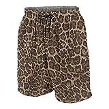De Los Hombres Casual Pantalones Cortos,Estampado de Piel Animal Colorido de Moda,Secado Rápido Traje de Baño Playa Ropa de Deporte con Forro de Malla