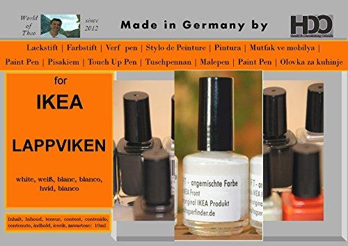 Farbstift Lackstift Touch-Up-Pen for IKEA LAPPVIKEN white