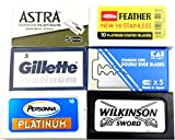 Astra-KAI-Persọnna-Wilkinson Double Edge Razor Blades Sampler (40 blades, 6 different brands)