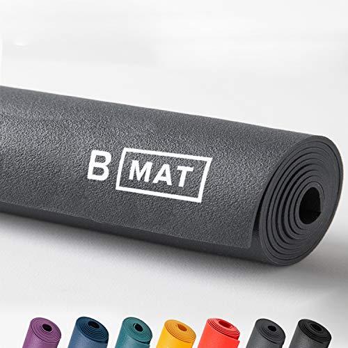 B YOGA Traveller 2 mm B Matte, 100 % Gummi, hohe Leistung, rutschfest, OEKOTEX-zertifiziert – für Yoga, Pilates, Workout und Bodenübungen, Anthrazit, 180 cm