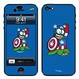 Diabloskinz B0081-0066-0055 - Carcasa de Vinilo para iPhone 5/5S, diseño de cómic, capitán Marihuana