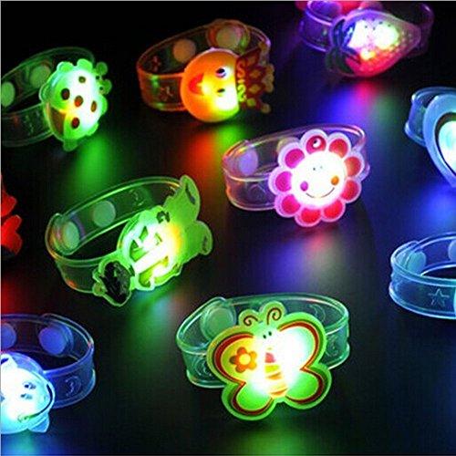 12shage Licht Flash-Spielzeug - Leuchtende Blinkende Handgelenk Hand Glow Spielzeug für Party