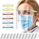 Pantalla Protección Facial Transparente para Adultos y Estudiantes, Visera Protectora Face_Shield_Vi... #7