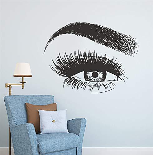 Autocollant Stickers Muraux Cils Extension Autocollant Sourcils Yeux Maquillage Studio Décor Beauté Lashes Fenêtre