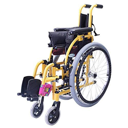 Eastinghouse Silla de ruedas plegable para niños Silla de ruedas ligera para la salud del conductor y el niño pequeña silla de ruedas portátil silla de ruedas manual para discapacitados niños carros