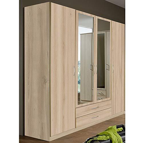 Wimex Kleiderschrank/ Drehtürenschrank Sprint, 4 Türen, 2 Schubladen, (B/H/T) 180 x 197 x 58 cm, Edelbuche