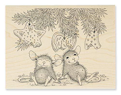 Stampendous House Mouse Cookie Ornaments Rubber Stamp