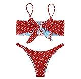 Jimmackey- Bikini Due Pezzi Costumi da Bagno Donna Mare Sexy Costume Imbottito Push Up Set Bikini Beachwear Stampa Bikini
