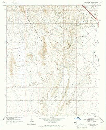YellowMaps Wickenburg SW AZ topo map, 1:24000 Scale, 7.5 X 7.5 Minute, Historical, 1965, Updated 1967, 26.8 x 22 in - Tyvek