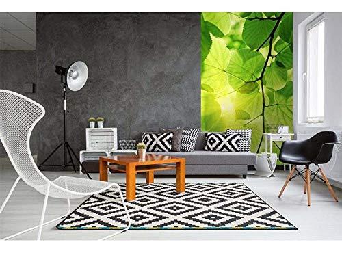 Vlies Fototapete GRÜNE BLÄTTER 150 x 250 cm | Vliestapete - Wandtapete für Wohnzimmer Schlafzimmer Büro Flur | PREMIUM QUALITÄT - MADE IN EU - Inklusive Tapetenkleber