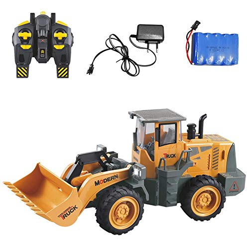 RC Auto kaufen Spielzeug Bild: 332PageAnn Rc Bagger Spielzeugauto Radlader Baufahrzeuge, 6 Kanal Simulationsfahrzeug Geburtstagsgeschenk Für Kinder*