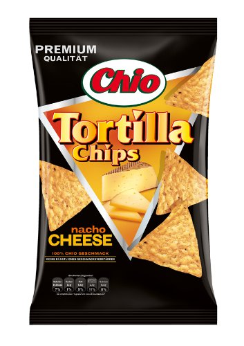 Chio Tortilla Chips Nacho Cheese, 3er Pack  (3 x 125 g Packung)