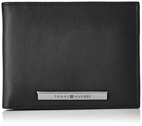 Tommy Hilfiger heren corp plaque Cc Flap and Coin portemonnee, zwart (black), 0x0x0cm