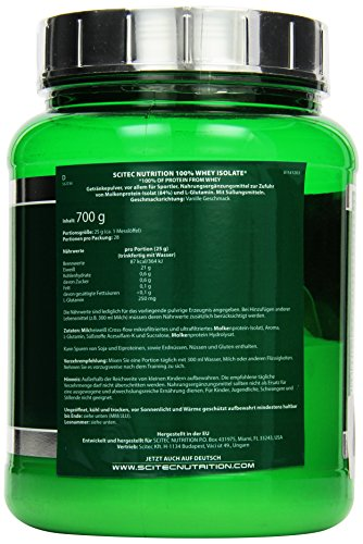 Scitec Nutrition Whey Isolate Vanille, 1er Pack (1 x 700 g) - 3