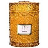 La Jolíe Muse Bougie Parfumées Grande Bougie en Verre Mèche en Bois Cadeau pour Fête 550g