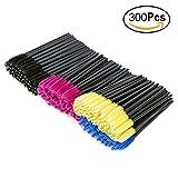 VAMIX 300pcs Multicolor Disposable Mascara Wands Eyelash Applicator Eyebrow Brush Makeup Kit (300 Pieces)